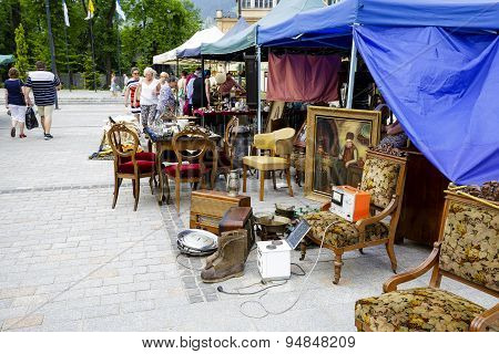 Antiques Sale At The Independence Square, Zakopane