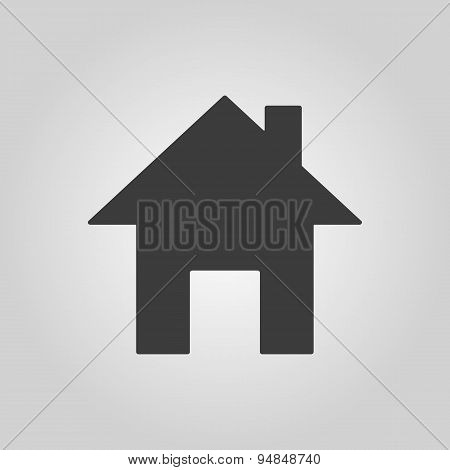 The Home Icon. House Symbol. Flat