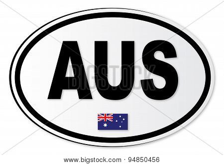 Australia Aus Plate