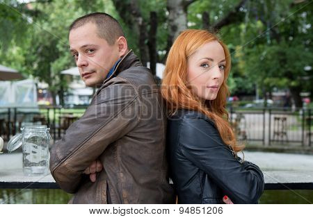 Young Couple Turning Away From Each Other