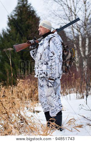 Standing Hunter With Gun