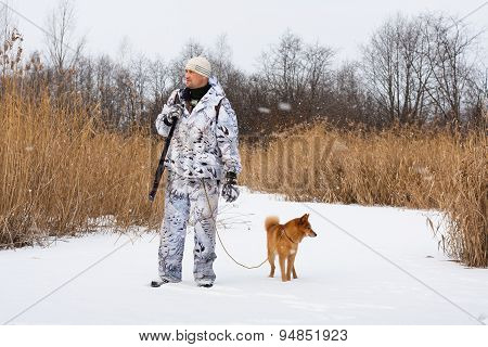 Winter Hunting With Dog