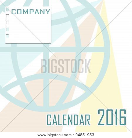 Abstract cover Of Calendar Of New Year 2016 Illustration