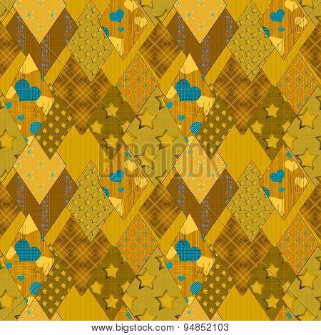 Seamless Patchwork Pattern Background