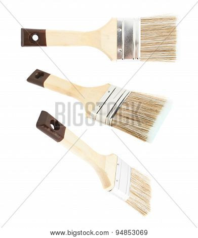 Wide paint brush isolated