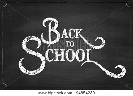 Back to School Chalk Hand Drawing Background