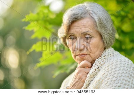 Nice sad old woman