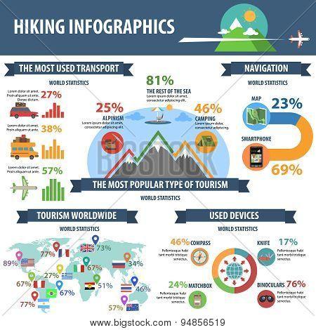 Hiking Infographics Set