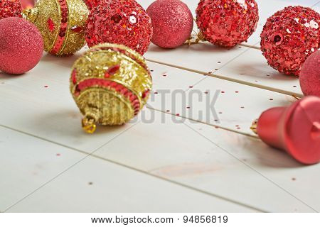 Festive christmas background composition