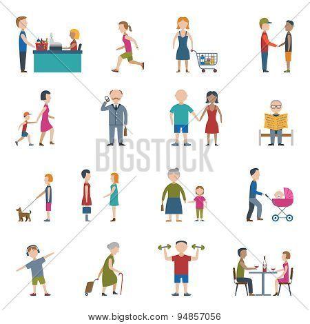 People Lifestyle Icon Set