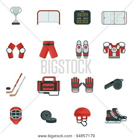 Hockey Decorative Icon Set