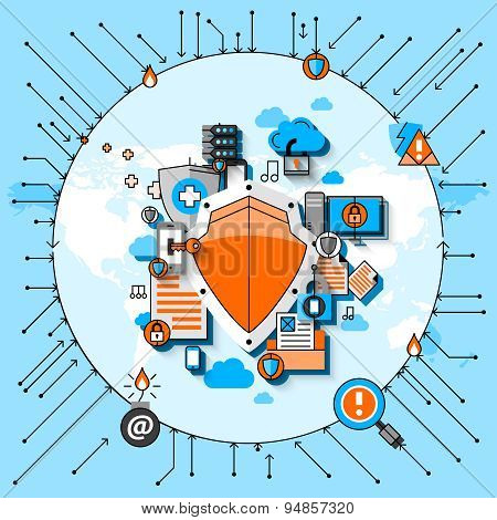 Data Security Line Concept