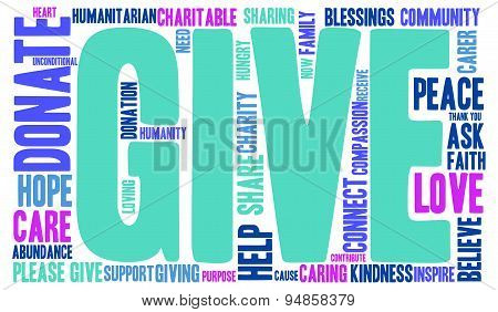 Give Word Cloud