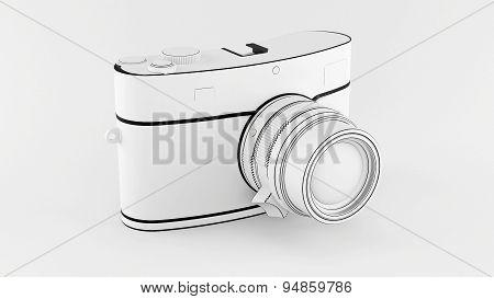 White photo camera