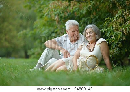 Beautiful caucasian elderly couple