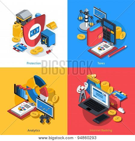 Financial Isometric Set