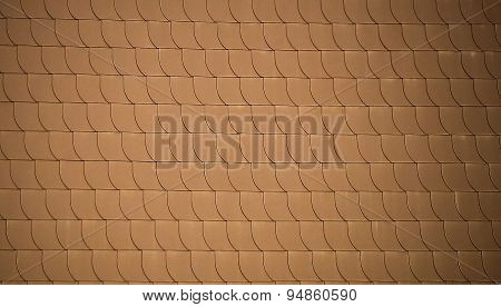 Red Roof Tiles Like Fish Scales As Background