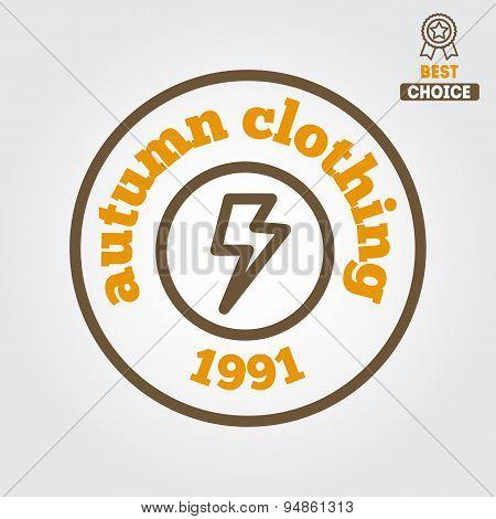 Logo, sticker, emblem, print, label or logotype elements for clothing and design