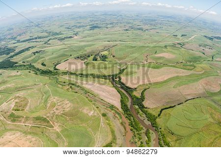 Aerial Flying Farmlands