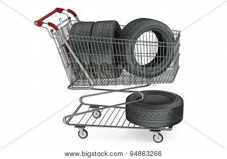 Shopping Cart With Car Tires