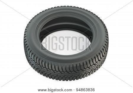 Automotive Tire Closeup