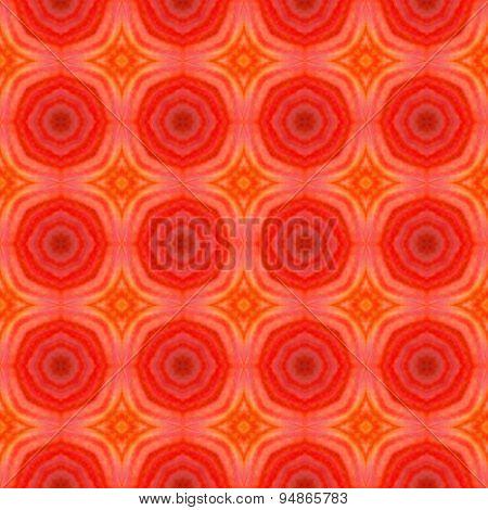 Abstract Orange Circular Pattern Made Seamless