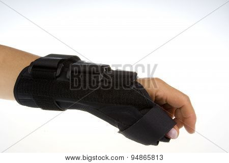 Wrist Orthosis On Isolated White