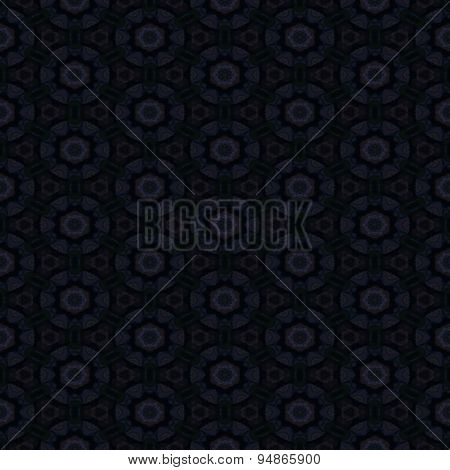 Seamless Abstract Black Pattern With Grey Circles
