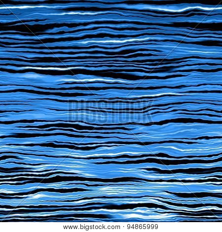 Blue Waves Pattern Made Seamless