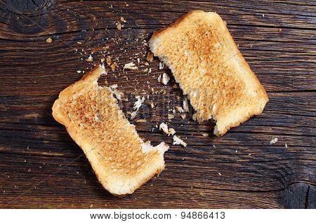 Two Slices Of Toasted Bread