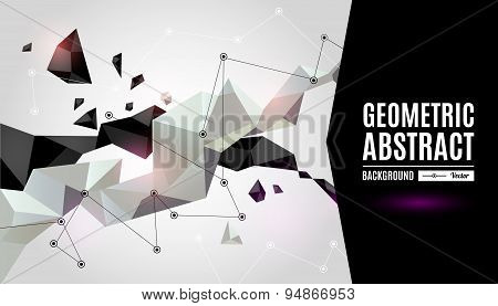 Abstract geometric background with shapes