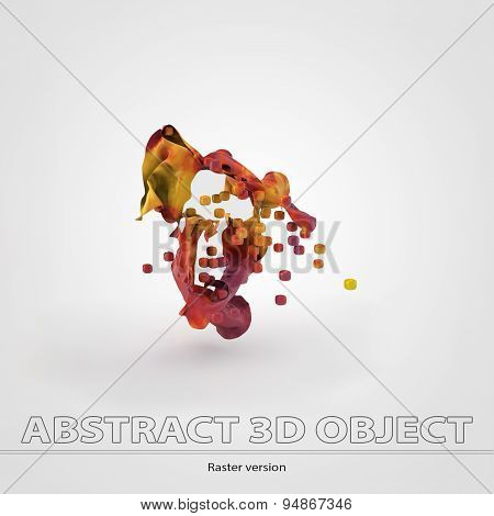 Colorful 3d object with cubes.Gap. Raster version.