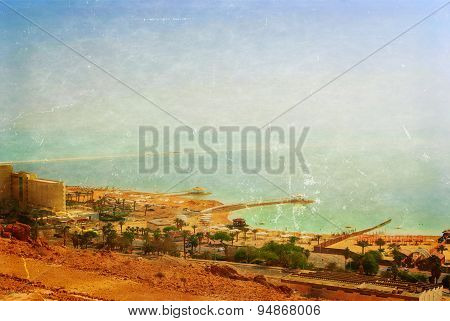 Panoramic View Over The Dead Sea