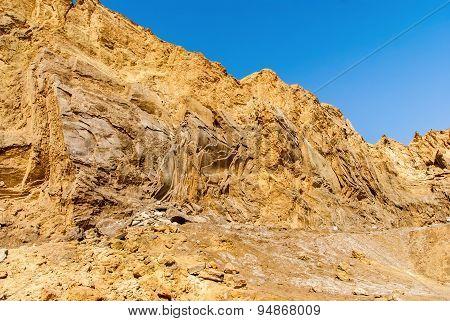 Negev Desert Landscape Near The Dead Sea.
