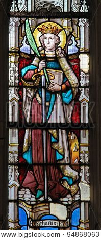 Stained Glass - Saint Catherine