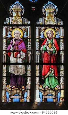Stained Glass - Saint Franciscus And Saint John The Evangelist