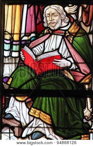 Stained Glass - Man Reading A Book