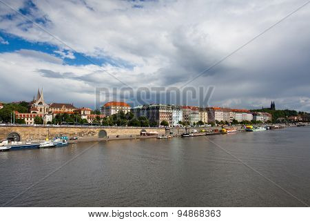 Before Heavy Storm - View Of The Historical Part Of Prague