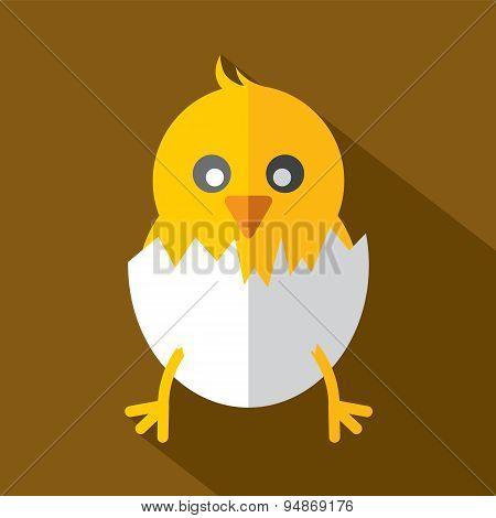 Modern Flat Design Chick Icon.