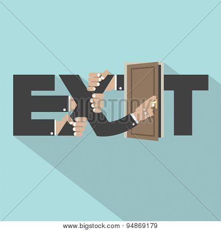 Exit Typography Design.