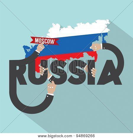 Russia Typography Design.