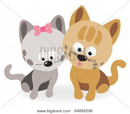 Best friends - two kittens