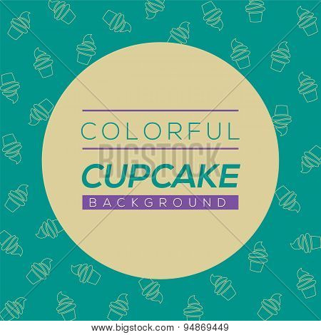 Colorful Cupcake Background.