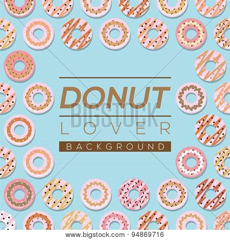 Donut Lover Background.
