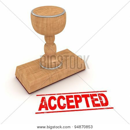 Rubber Stamp - Accepted