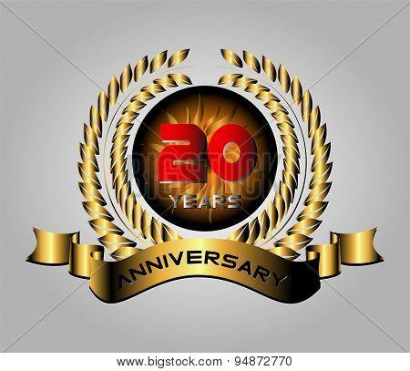 Celebrating 20 Years Anniversary Retro Label
