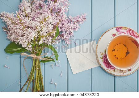 Love Card, English Black Tea And Blooming Lilac