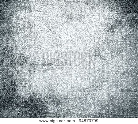 Grunge background of alice blue leather texture