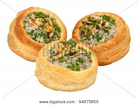 Mushroom Filled Vol Au Vents