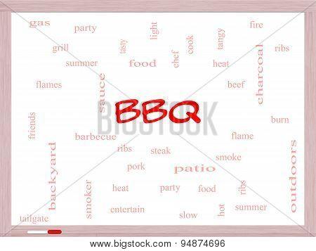 Bbq Word Cloud On A Whiteboard